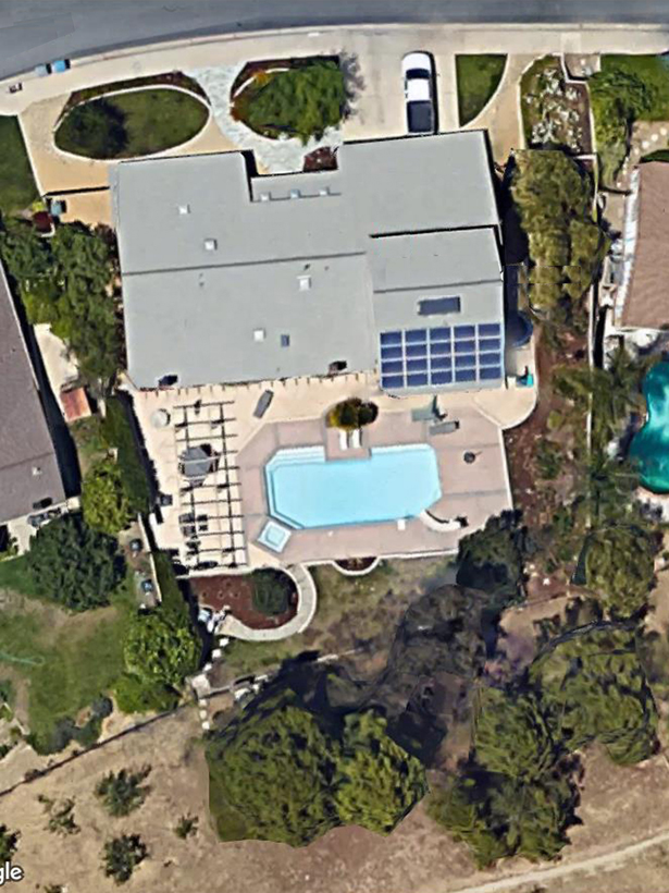 Aerial View, 2-Story Green Home Addition, Wholehouse Remodel & Landscape, ENR architects, Thousand Oaks, CA 91360