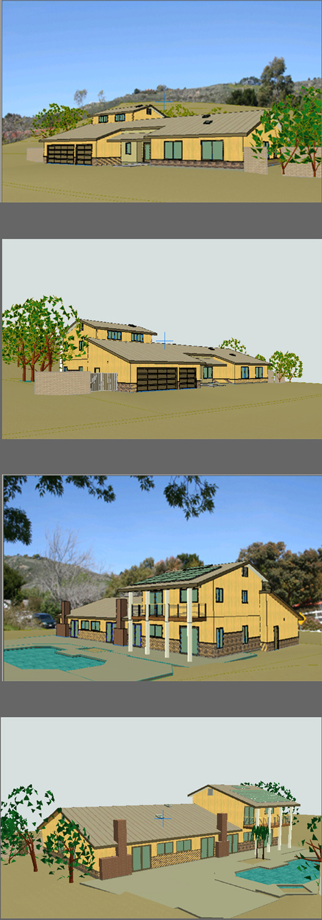 2-Story Addition, Whole House Remodel & Landscape - ENR architects - Thousand Oaks, CA 91360 - CAD Model