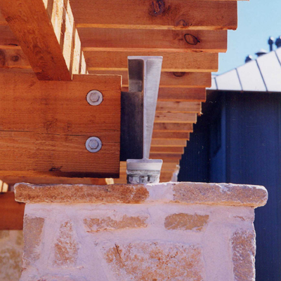 Ranch House, ENR architects with Frank D. Welch Associates, Montague County, TX 76255 - Column Detail