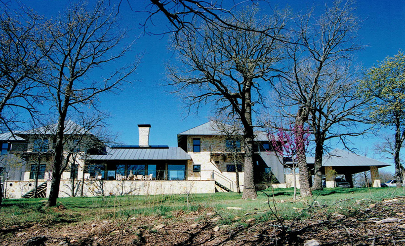 Ranch House, ENR architects with Frank D. Welch Associates, Montague County, TX 76255 - Elevation East