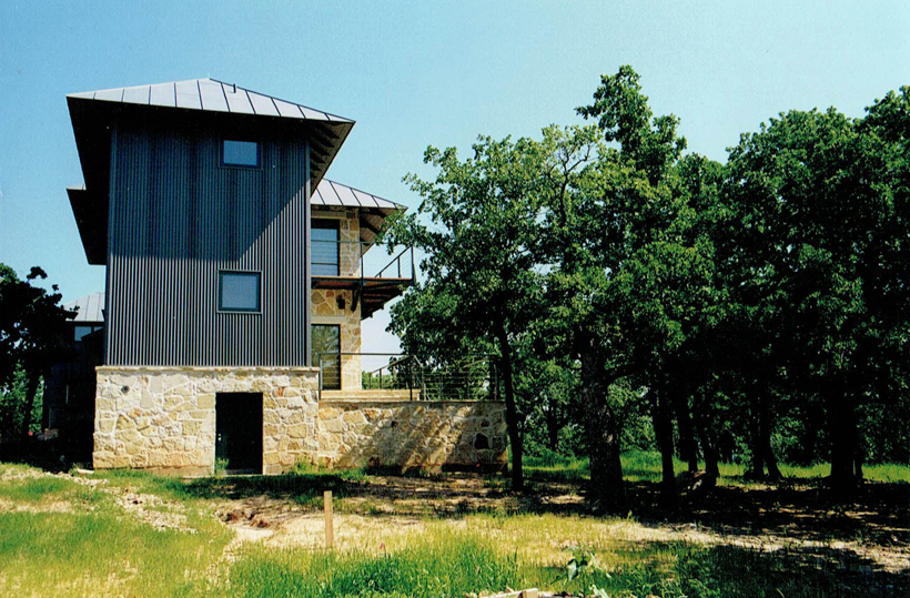 Ranch House, ENR architects with Frank D. Welch Associates, Montague County, TX 76255 - Elevation South