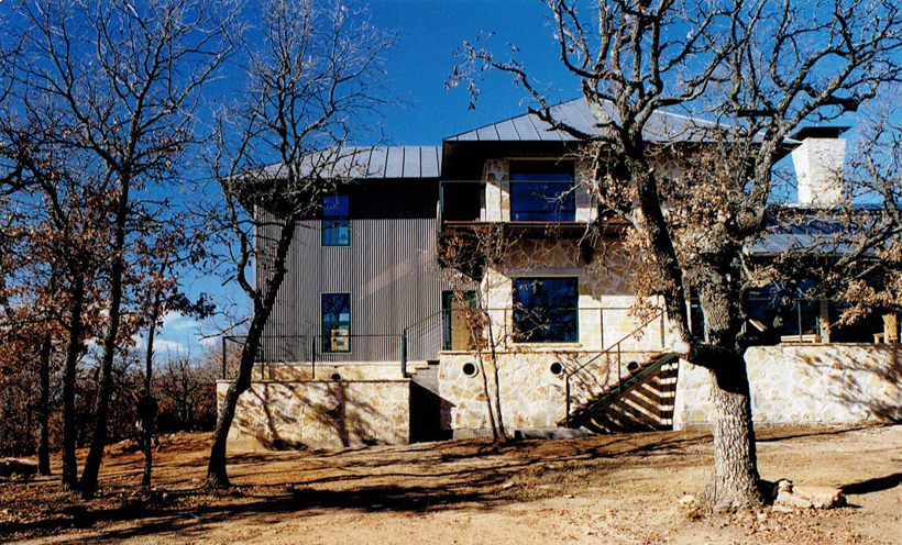 Ranch House, ENR architects with Frank D. Welch Associates, Montague County, TX 76255 - Elevation East End