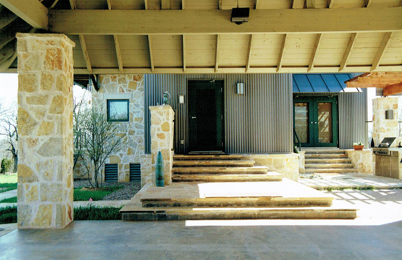 Ranch House, ENR architects with Frank D. Welch Associates, Montague County, TX 76255 - Entry North