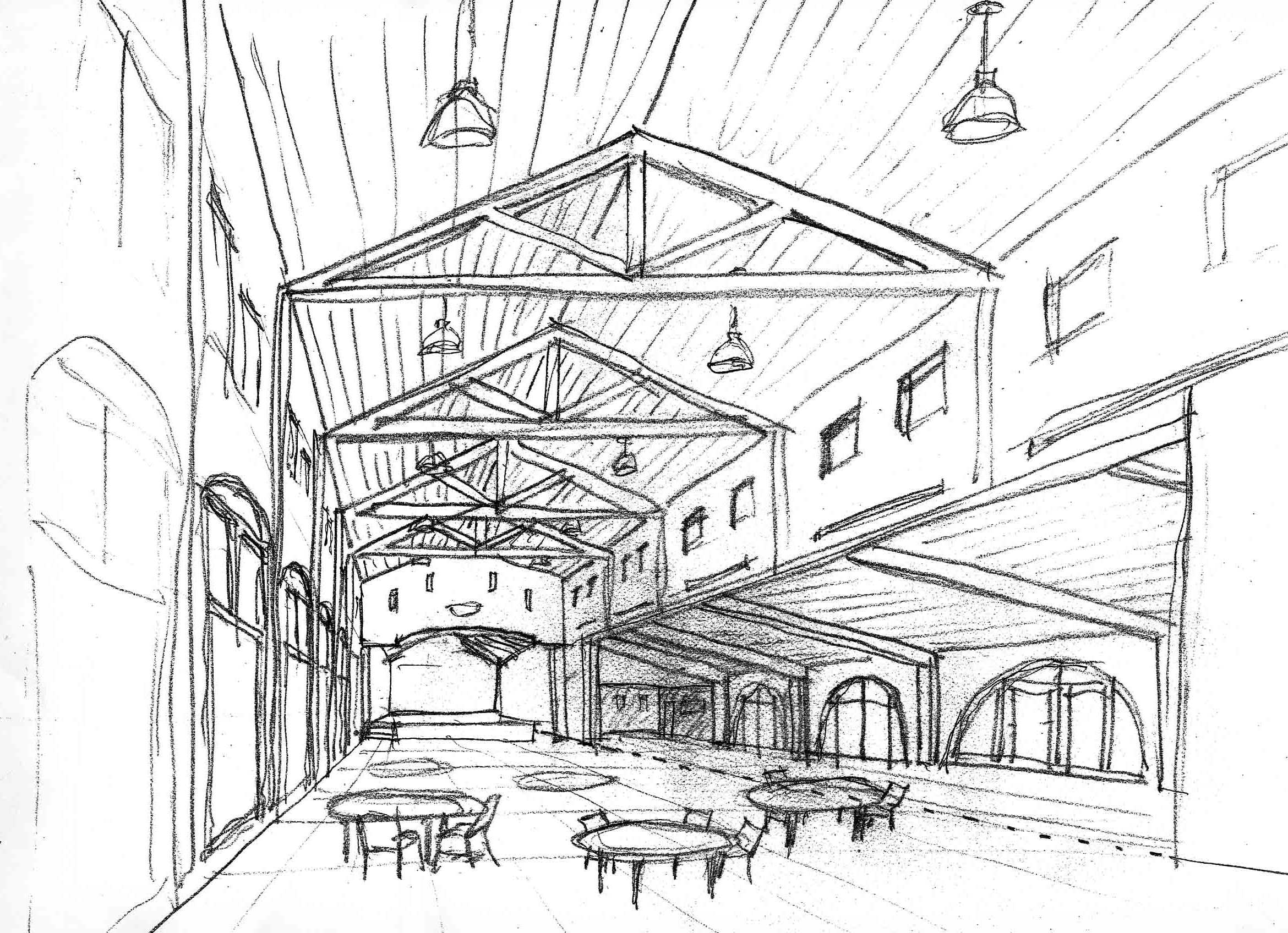Northgate Senior & Community Center, ENR architects with G4 Architects, Fremont, CA 94555 - Concept Sketch