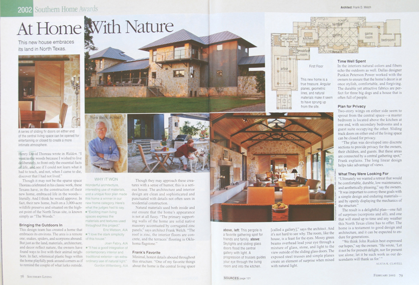 Frank D. Welch - Southern Home Awards - The South's Best Homes - Feb 2002