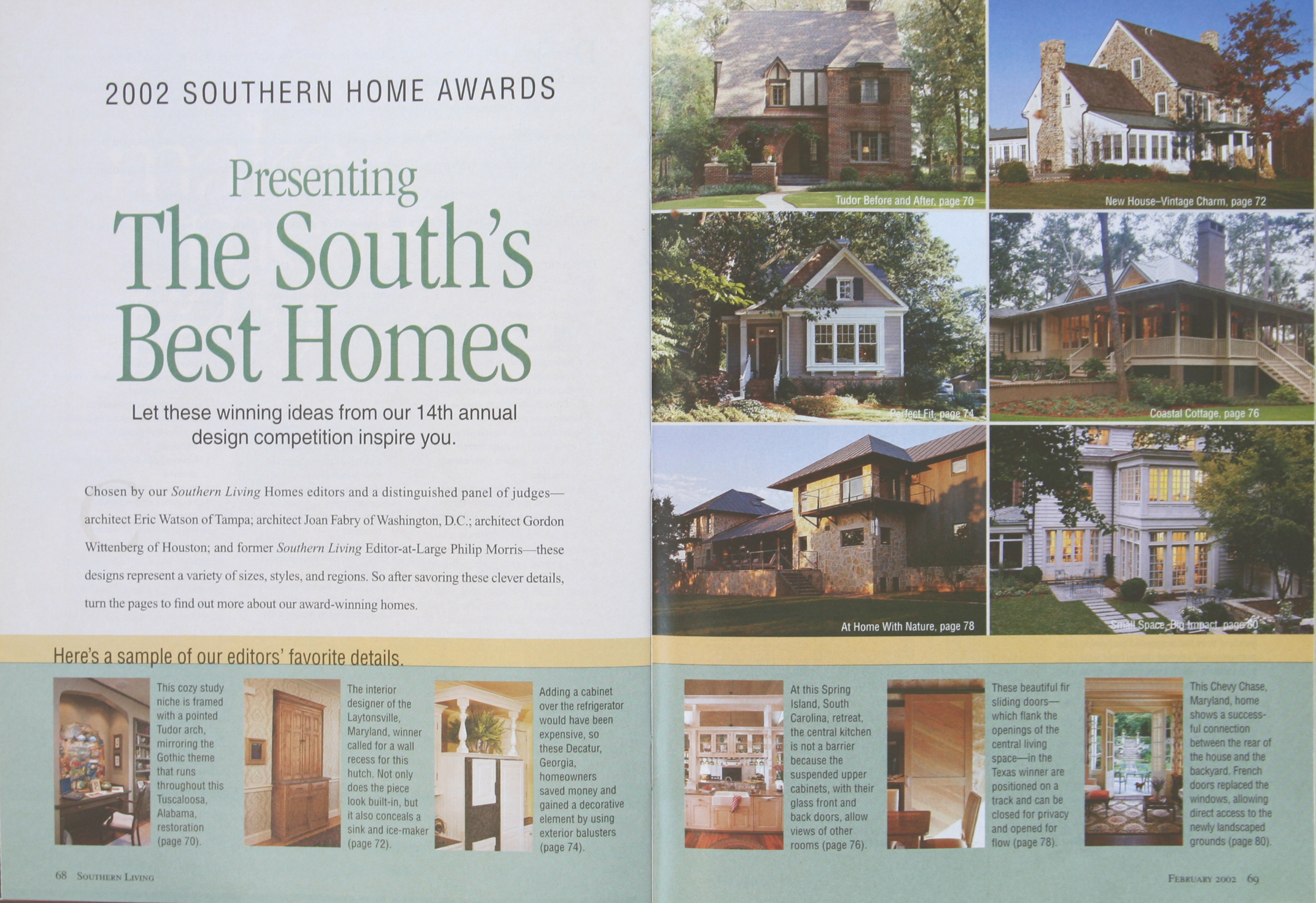 Southern Home Awards - The South's Best Homes - Feb 2002-p78