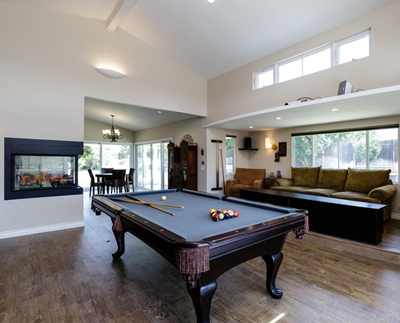 HOUZZ - GameRoom-Theater-Kitchen-Dining-MasterBath-CoveredPorch-ENRarchitects-ThousandOaksCA