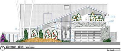 Proposed Landscape Front - 2-Story Wholehouse Remodel, Covered Patio Addition & Landscape, ENR architects, Westlake Village, CA 91361